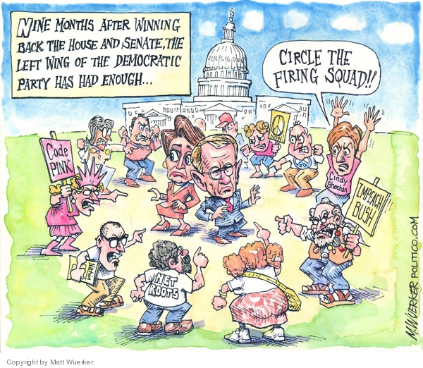 Cartoonist Matt Wuerker  Matt Wuerker's Editorial Cartoons 2007-09-12 Congress and Iraq