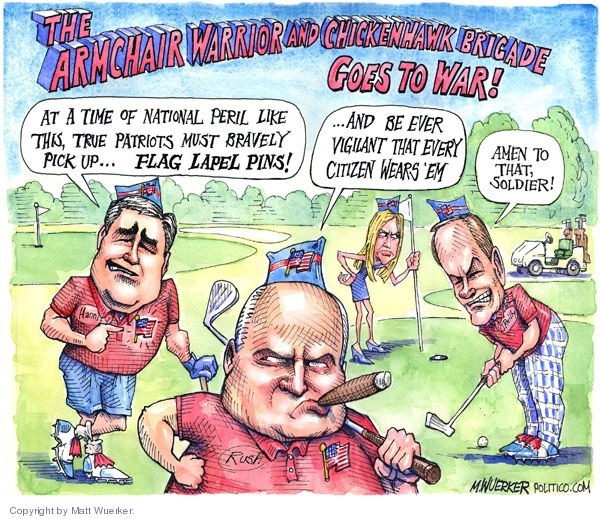 Cartoonist Matt Wuerker  Matt Wuerker's Editorial Cartoons 2007-10-17 patriotism