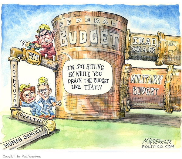 Cartoonist Matt Wuerker  Matt Wuerker's Editorial Cartoons 2007-11-15 federal budget