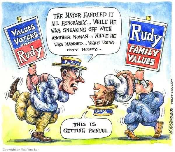 Matt Wuerker  Matt Wuerker's Editorial Cartoons 2007-12-04 Rudy Giuliani