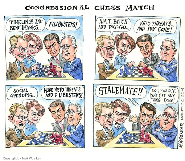 Cartoonist Matt Wuerker  Matt Wuerker's Editorial Cartoons 2007-12-12 Congress and Iraq