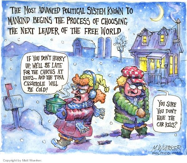 Cartoonist Matt Wuerker  Matt Wuerker's Editorial Cartoons 2008-01-03 mankind