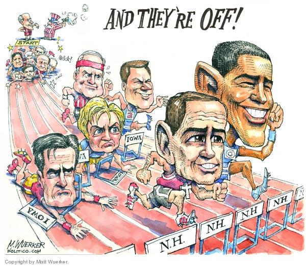 Matt Wuerker  Matt Wuerker's Editorial Cartoons 2008-01-04 Iowa election