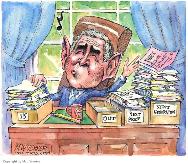 Matt Wuerker  Matt Wuerker's Editorial Cartoons 2008-01-23 Presidency