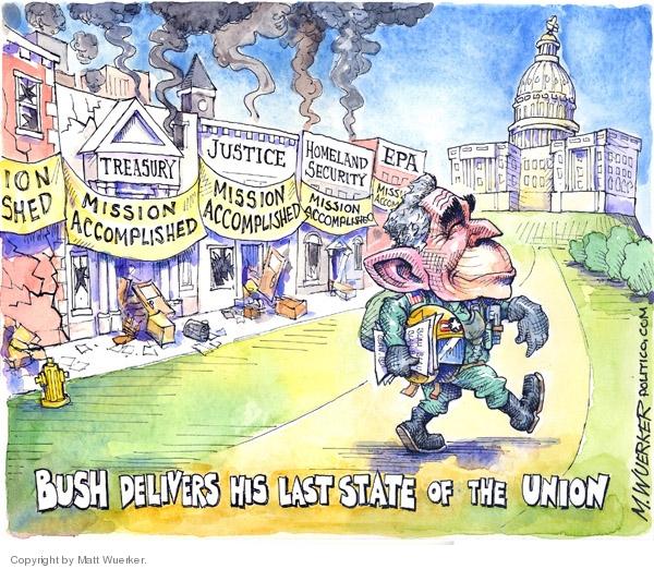 Cartoonist Matt Wuerker  Matt Wuerker's Editorial Cartoons 2008-01-29 State Department