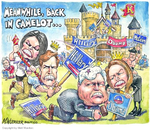 Cartoonist Matt Wuerker  Matt Wuerker's Editorial Cartoons 2008-02-05 Ted Kennedy