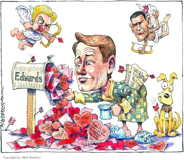 Matt Wuerker  Matt Wuerker's Editorial Cartoons 2008-02-14 cupid