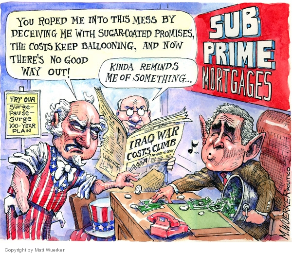 Cartoonist Matt Wuerker  Matt Wuerker's Editorial Cartoons 2008-02-14 expense