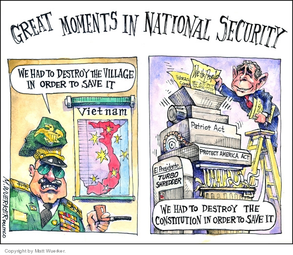 Cartoonist Matt Wuerker  Matt Wuerker's Editorial Cartoons 2008-02-21 civil liberty
