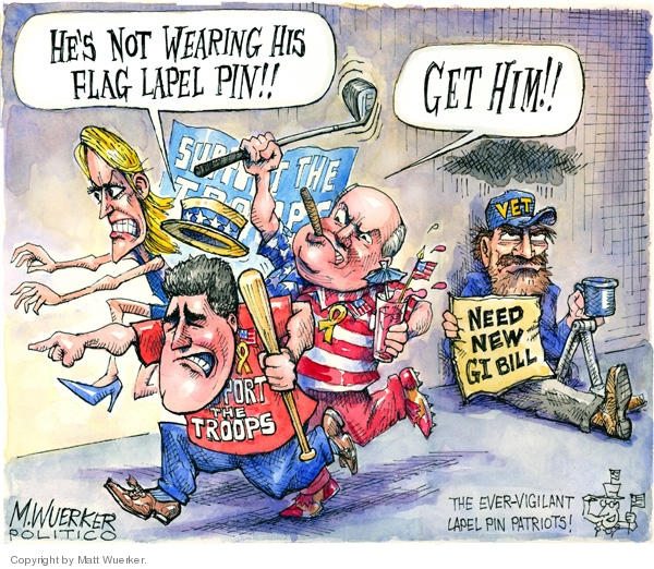 Cartoonist Matt Wuerker  Matt Wuerker's Editorial Cartoons 2008-05-14 patriotism