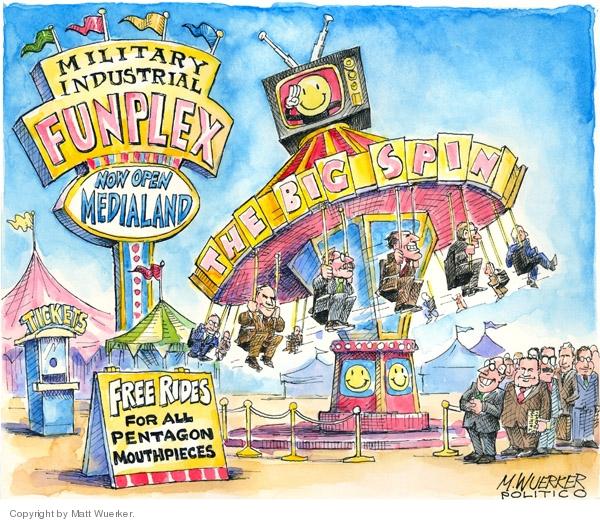 Cartoonist Matt Wuerker  Matt Wuerker's Editorial Cartoons 2008-05-22 military industrial complex