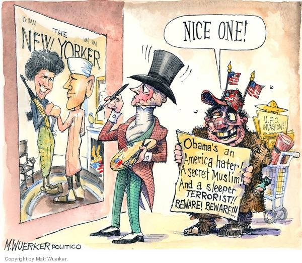 Cartoonist Matt Wuerker  Matt Wuerker's Editorial Cartoons 2008-07-16 hater