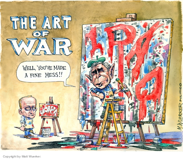 Cartoonist Matt Wuerker  Matt Wuerker's Editorial Cartoons 2006-08-15 Vladimir