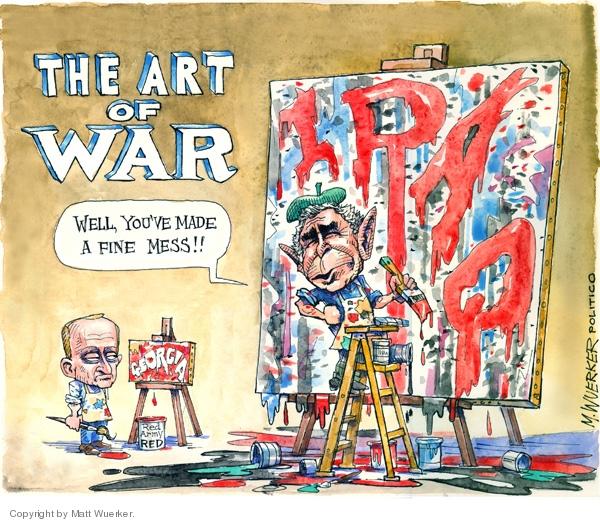 Cartoonist Matt Wuerker  Matt Wuerker's Editorial Cartoons 2006-08-15 military