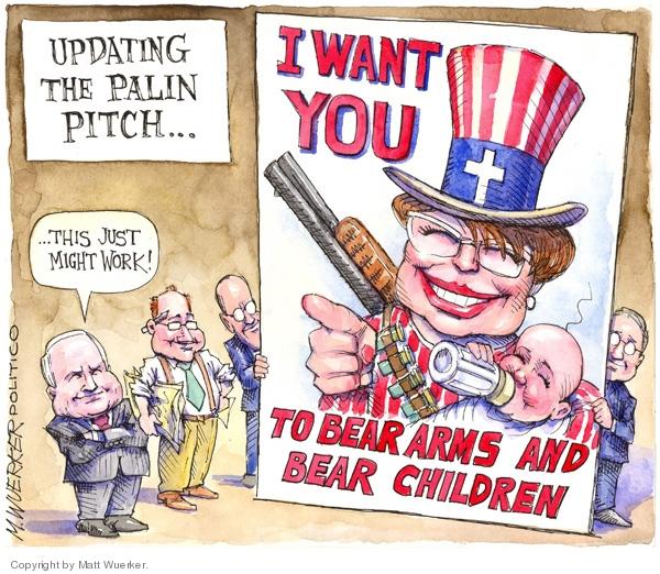 Cartoonist Matt Wuerker  Matt Wuerker's Editorial Cartoons 2008-09-03 republican president