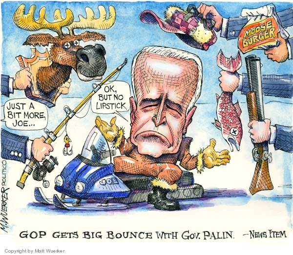 Cartoonist Matt Wuerker  Matt Wuerker's Editorial Cartoons 2008-09-10 image