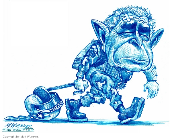 Cartoonist Matt Wuerker  Matt Wuerker's Editorial Cartoons 2007-04-27 president