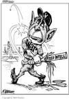 Cartoonist Matt Wuerker  Matt Wuerker's Editorial Cartoons 2003-01-13 baseball game