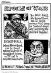 Cartoonist Matt Wuerker  Matt Wuerker's Editorial Cartoons 2003-10-08 chairman