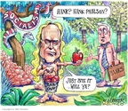 Cartoonist Matt Wuerker  Matt Wuerker's Editorial Cartoons 2008-10-16 forbidden fruit