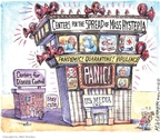 Cartoonist Matt Wuerker  Matt Wuerker's Editorial Cartoons 2009-05-06 television cartoon