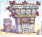 Cartoonist Matt Wuerker  Matt Wuerker's Editorial Cartoons 2009-05-06 television news
