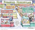 Cartoonist Matt Wuerker  Matt Wuerker's Editorial Cartoons 2010-03-16 credit card debt