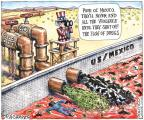 Cartoonist Matt Wuerker  Matt Wuerker's Editorial Cartoons 2011-06-29 gun