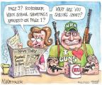Cartoonist Matt Wuerker  Matt Wuerker's Editorial Cartoons 2012-04-12 gun
