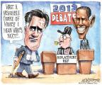 Cartoonist Matt Wuerker  Matt Wuerker's Editorial Cartoons 2012-10-01 2012 debate