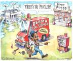 Cartoonist Matt Wuerker  Matt Wuerker's Editorial Cartoons 2013-09-23 press freedom