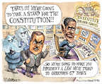 Cartoonist Matt Wuerker  Matt Wuerker's Editorial Cartoons 2014-07-30 war powers act