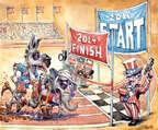 Cartoonist Matt Wuerker  Matt Wuerker's Editorial Cartoons 2014-11-04 2014 election
