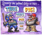 Cartoonist Matt Wuerker  Matt Wuerker's Editorial Cartoons 2014-12-05 name