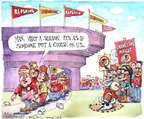 Cartoonist Matt Wuerker  Matt Wuerker's Editorial Cartoons 2014-12-19 stadium