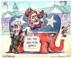 Cartoonist Matt Wuerker  Matt Wuerker's Editorial Cartoons 2015-04-07 2016 election Rand Paul