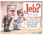 Matt Wuerker  Matt Wuerker's Editorial Cartoons 2015-09-17 2016 election Jeb Bush