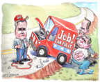 Matt Wuerker  Matt Wuerker's Editorial Cartoons 2015-11-19 2016 election Jeb Bush
