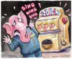 Cartoonist Matt Wuerker  Matt Wuerker's Editorial Cartoons 2015-12-15 primary election