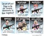 Cartoonist Matt Wuerker  Matt Wuerker's Editorial Cartoons 2016-06-15 gun