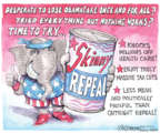 Cartoonist Matt Wuerker  Matt Wuerker's Editorial Cartoons 2017-07-28 health care repeal