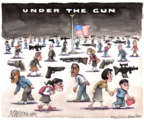 Cartoonist Matt Wuerker  Matt Wuerker's Editorial Cartoons 2017-10-03 gun