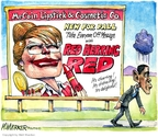 Cartoonist Matt Wuerker  Matt Wuerker's Editorial Cartoons 2008-09-12 John McCain