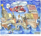 Cartoonist Matt Wuerker  Matt Wuerker's Editorial Cartoons 2008-09-17 trap