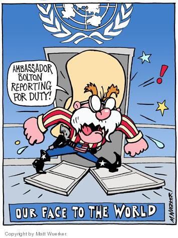Cartoonist Matt Wuerker  Matt Wuerker's Editorial Cartoons 2005-08-03 door