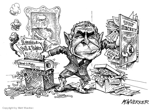 Matt Wuerker  Matt Wuerker's Editorial Cartoons 2006-09-20 government secrecy