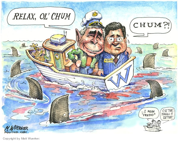 Cartoonist Matt Wuerker  Matt Wuerker's Editorial Cartoons 2007-03-28 attorney general