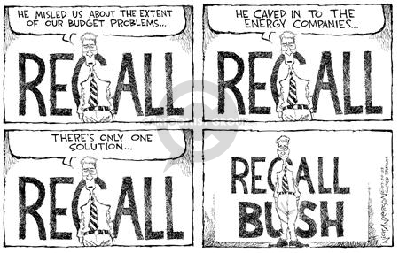 Nick Anderson  Nick Anderson's Editorial Cartoons 2003-07-29 conflict of interest