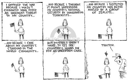 Cartoonist Nick Anderson  Nick Anderson's Editorial Cartoons 2003-08-03 loyalty