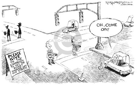 Cartoonist Nick Anderson  Nick Anderson's Editorial Cartoons 2003-08-26 street